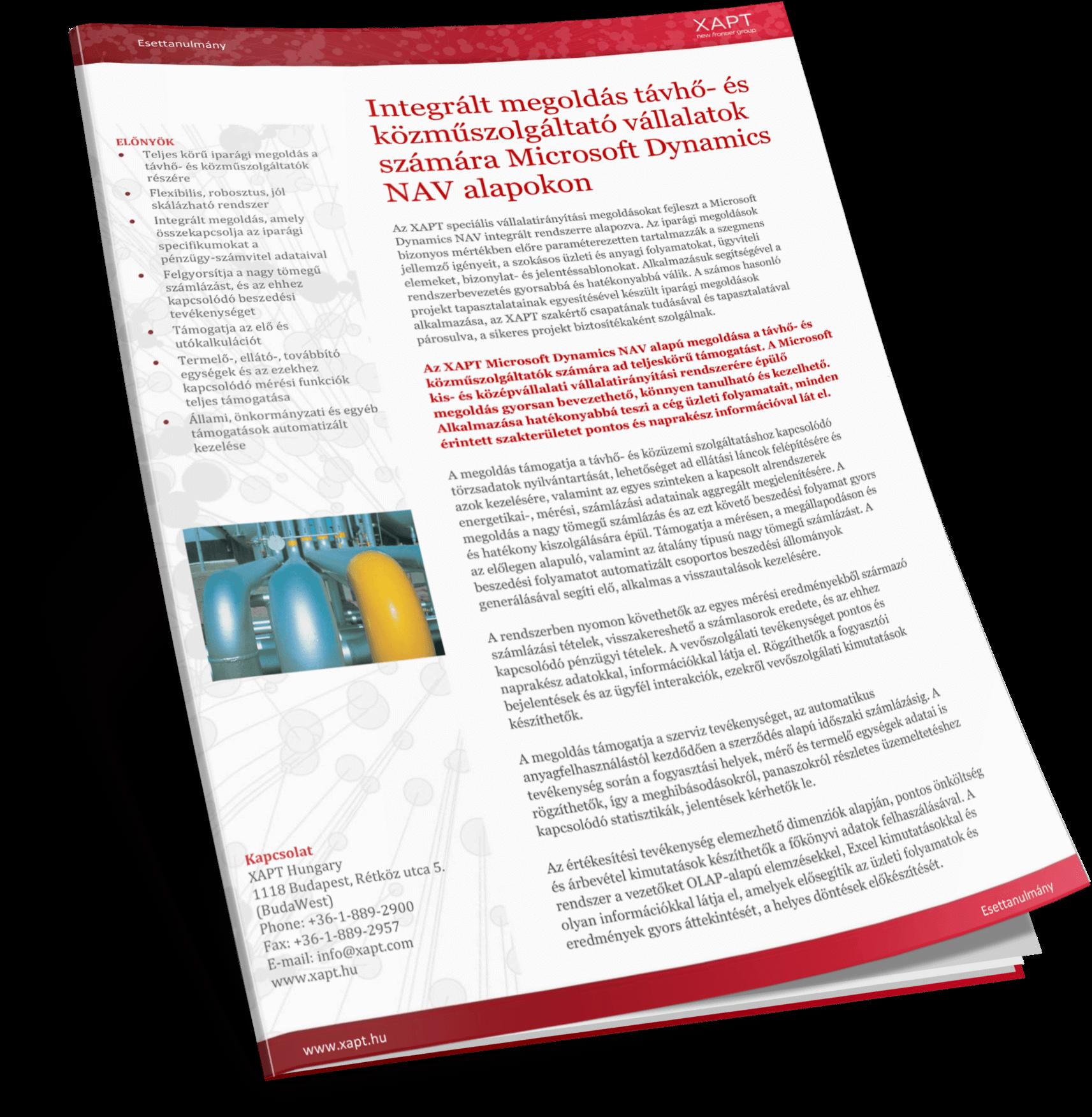 Közműszolgáltatás Microsoft Dynamics NAV alapokon