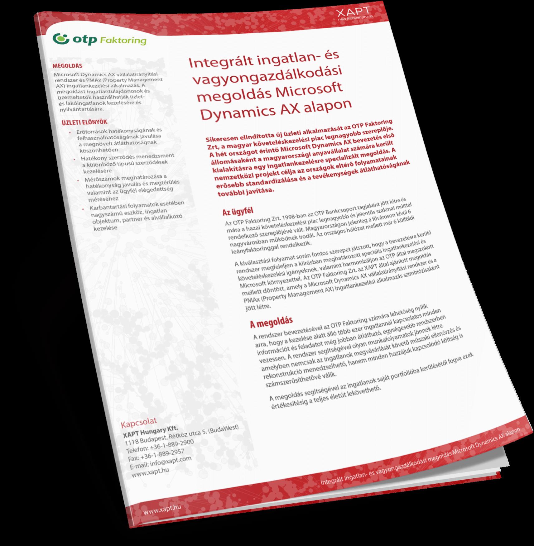 Integrált ingatlan- és vagyongazdálkodási megoldás Microsoft Dynamics AX alapon